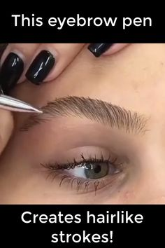 """Luxe Boutique's Brow Flicks pen creates flawless, long-lasting, defined brows without the permanence of microblading. The revolutionary ink stain formula and brush tip creates precise, hair-like… More Photos Comments "" Fix Eyebrows, How To Make Eyebrows, Blonde Eyebrows, How To Make Hair, Drawing Eyebrows, Thicker Eyebrows, Plucking Eyebrows, How To Shape Eyebrows For Beginners, Zendaya Eyebrows"