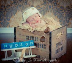 Baby Crochet Hat  Crochet Baby Aviator Hat  by JemsBoutique, $16.50