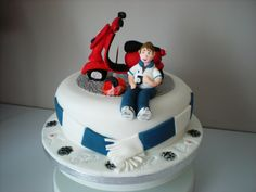 man with moped cake - Google Search