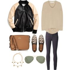 TODAYS LOOK by maellog on Polyvore featuring Helmut Lang, Coach, Citizens of Humanity, Givenchy, Tory Burch, J.Crew, Ray-Ban, polyvoreblogger and polyvorestyle