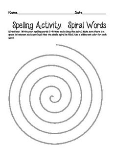 This spelling packet includes 4 different activities for students to practice their words throughout the week. Writing spelling words in a spiral Pyramid Fancy Parent quiz Spelling Word Activities, Spelling Word Practice, First Grade Spelling, Spelling Worksheets, Spelling Words, Spelling Ideas, Listening Activities, Teaching 5th Grade, Teaching Writing