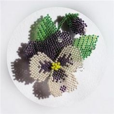 Schema for pansy or violet.  #Seed #Bead #Tutorials