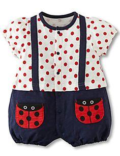 3-24M Cartoon Baby Girls Romper Short Sleeve Cute Newborn Toddler One  Pieces Jumpsuits Infant cfaba74605