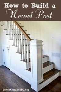 http://www.beneathmyheart.net/2013/02/how-to-build-a-newel-post/
