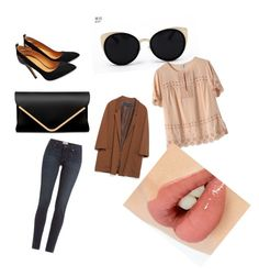 """""""décontracté chic"""" by nafila2002 ❤ liked on Polyvore featuring Una-Home, J.Crew, Zara, Paige Denim and Charlotte Tilbury"""