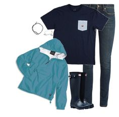 """""""Untitled #1334"""" by southernstruttin ❤ liked on Polyvore featuring Yves Saint Laurent, Hunter and Alex and Ani"""