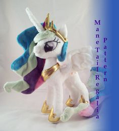 Instant Download My Little Pony Princess Celestia Mane Tail and Regalia Pattern on Etsy, £3.19
