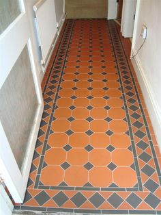 Tile shop in Derby supplying slate, marble, mosaic, porecelain, terracotta and victorian tiles for bathrooms and kitchens Tiled Floors, Painted Floors, Front Path, Front Verandah, Tiled Hallway, Hall Flooring, Victorian Tiles, Terracota, Upstairs Bathrooms