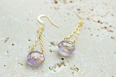 Gilded Briolette Drop Earrings | AllFreeJewelryMaking.com