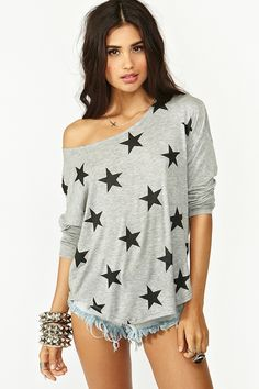 Lucky Star Tee in Clothes Tops at Nasty Gal...love this shirt!