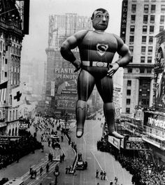 superman balloon macys parade 1940 #anthropologie #pintowin #Friendsgiving