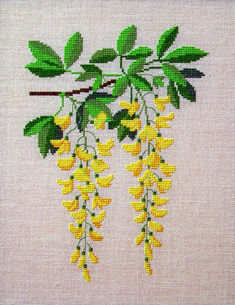 30-6801 Guldregn Tiny Cross Stitch, Cross Stitch Tree, Beaded Cross Stitch, Cross Stitch Borders, Simple Cross Stitch, Cross Stitch Flowers, Modern Cross Stitch, Cross Stitching, Cross Stitch Embroidery