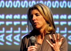 Filmmaker Rory Kennedy speaks before a Sundance Institute Patron Circle screening. circl