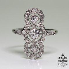 Antique Edwardian Platinum 0.81ct. Diamond Ring