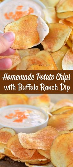 Diner Recipes, Snack Recipes, Cooking Recipes, Snacks, Cooking Ideas, Homemade Chip Dip, Homemade Dips For Chips, Potato Chips Homemade, Dip For Potato Chips
