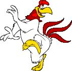 Foghorn Leghorn is an anthropomorphic rooster, appearing in numerous Warner Bros. cartoons...