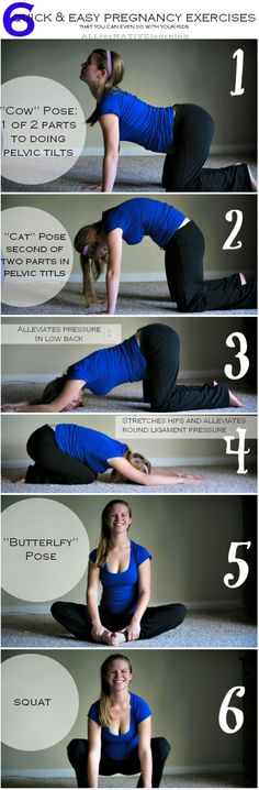 Pregnancy exercises that are quick and easy.
