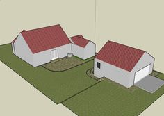 how to decide on a house with detached shop lot layout - Google Search