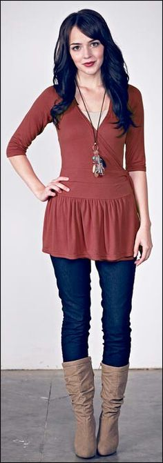 Love this  tunic top. Would be so cute for fall.
