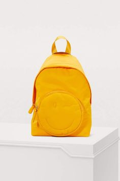 Anya Hindmarch Chubby Wink nylon backpack Anya Hindmarch Fashion, Mastercard Logo, Backpack Online, Cool Backpacks, British Style, Fashion Backpack, Pop Culture, Latest Trends, Zip