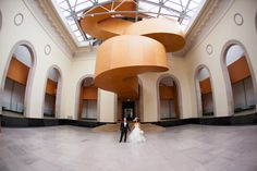 Ah - mazing photo backgrounds! The perks of getting married at the AGO. Art Gallery Of Ontario, Photo Backgrounds, Getting Married, Marriage, Architecture, Boston, Groom, Weddings, Bride