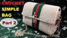 How to Crochet Simple Bag part Col Crochet, Crochet Mandala Pattern, Crochet Shell Stitch, Crochet Clutch, Crochet Jacket, Crochet Handbags, Crochet Purses, Crochet Baby, Crochet Cardigan