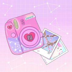 Kawaii Wallpaper, Wallpaper Iphone Cute, Aesthetic Iphone Wallpaper, Arte Do Kawaii, Kawaii Art, Cute Animal Drawings Kawaii, Cute Drawings, Cute Camera, Pop Stickers