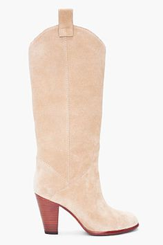 MARC BY MARC JACOBS Beige Cowboy Booties