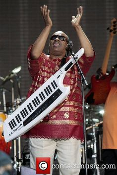 Stevie Wonder performs at day 2 of Hard Rock Calling in Hyde Park in England - 2010. PHOTO: contactmusic.com