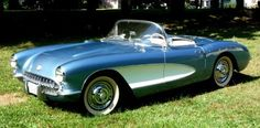 57 Corvette Convertible- BAM and its DODGER BLUE.  I'm officially in LOVE.