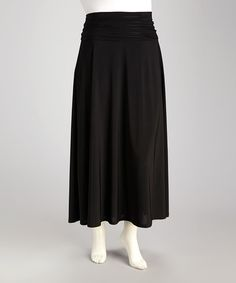 Take a look at this Black Plus-Size Maxi Skirt by Avital on #zulily today!$24.99, regular 56.00