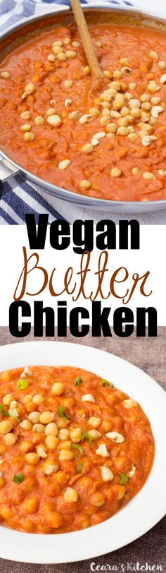 This Vegan clean Butter Chicken is one of my favorite meals to serve for dinner. The cashews makes this Butter Chicken so incredibly rich + buttery and the chickpeas make it so hearty + meaty! Veggie Recipes, Indian Food Recipes, Whole Food Recipes, Vegetarian Recipes, Cooking Recipes, Healthy Recipes, Vegan Butter Chicken, Vegan Main Dishes, Vegan Foods