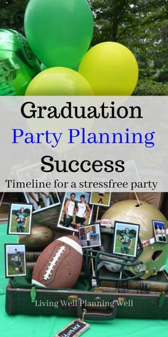 Discover how to host the best graduation party by implementing these graduation party timeline guidelines. Graduation Party Desserts, Outdoor Graduation Parties, Graduation Party Planning, Graduation Cake, Graduation Decorations, Grad Parties, Graduation Ideas, Holiday Party Themes, Party Ideas