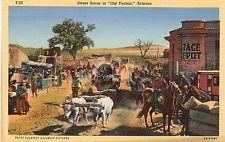 "STREET SCENE ""OLD TUCSON"",AZ AS IN 1859"