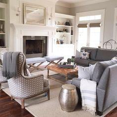 Caitlin Creer Interiors @caitlincreerinteriors Cozy family room ...Instagram photo | Websta (Webstagram)