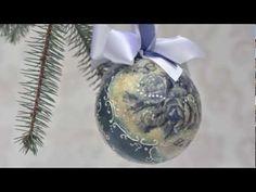 Decoupage krok po kroku - niebieska bombka - YouTube