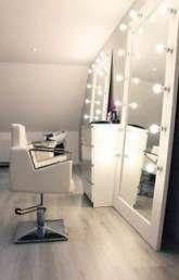 Hair Salon Mobile App : How will it help me?, Hair Salon Cellular App : How will it assist me? Glamourous-Gentle-Hollywood-Mirror-Gentle-Led-Hair-Salon-Make-Up-Mirror Glamourous-Gentle-Hollywood-M. Beauty Salon Decor, Beauty Salon Interior, Salon Lighting, Bedroom Lighting, Lighting Ideas, Salon Mirrors, Vanity Mirrors, Ikea Mirror, Ikea Vanity
