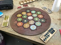 A quick lasercut board for Settlers of Catan