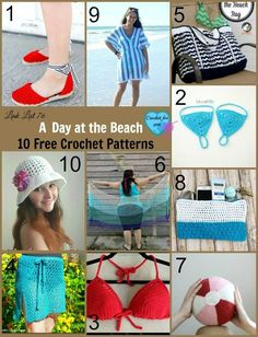 A Day at the Beach -10 Free Crochet Patterns link list.