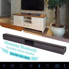 Wireless Bluetooth Soundbar Stereo Speaker TV Home Theater Sound Bar Subwoofer Home Security Tips, Home Security Systems, Mobile Security, Stereo Speakers, Bluetooth Speakers, Bluetooth Gadgets, Usb, Home Theater Sound Bar, Security Equipment