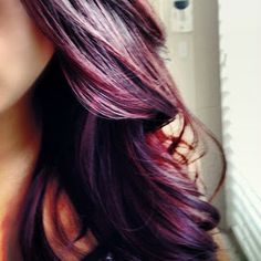 Plum, Red, Blonde highlights and lowlights for something different