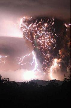 Volcano causing storm