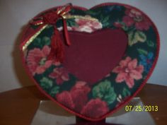 Quilted Heart Table Stand Fabric Cloth by NAESBARGINBASEMENT, $8.00