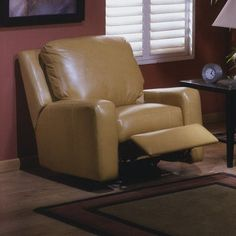 Omnia Leather Mirage Leather Recliner Upholstery: Eugene - Espresso