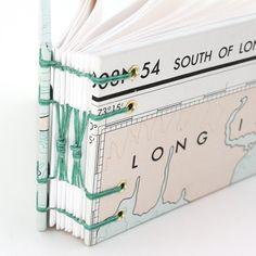 Long Island Mini Sized coptic stitch book by RuthBleakley