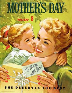 Mother's Day, May 8 by Arthur Sarnoff (Tom Simpson) Tags: woman illustration vintage painting mothersday arthursarnoff Retro Images, Vintage Images, Vintage Posters, Mothers Day May, Mothers Day Cards, Beste Mama, Vintage Housewife, Birthday Cards For Mom, Mother And Child