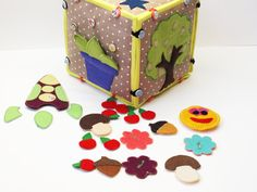Activity sensory toy developing cube set of by SerZiHandicrafts