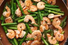 This Healthy Shrimp And Asparagus Stir-Fry Is Under 300 Calories. Sub coconut aminos for soy sauce