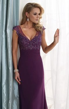 mother of the bride/groom dress with cap sleeves