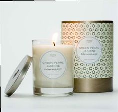 Green Pearl Jasmine Candle design by Kobo Candles